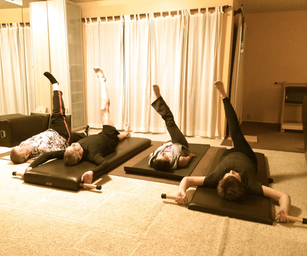 Pilates Mat Exercise Poster: On The 4th Day Of March MATness Joe Pilates Gave To Me